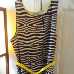 Dresses & Skirts - Black, White, and Yellow skater Dress